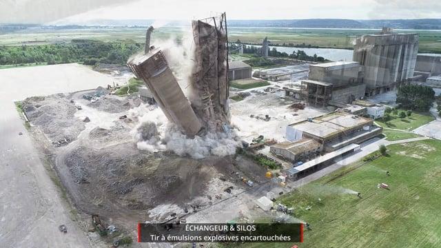 Vidéo Tir à l'explosif des Silos & Échangeur LafargeHolcim